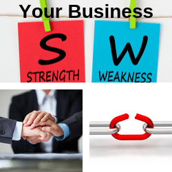 Business skills analysis in terms of strengths and weaknesses