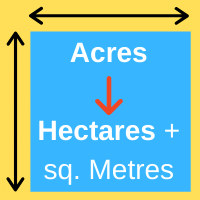 Convert hectares to acres