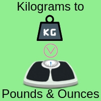 Kilograms to pounds and ounces converter