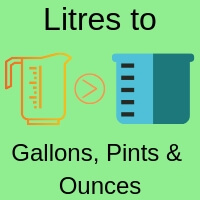 Convert litres to gallons, pints and ounces volume