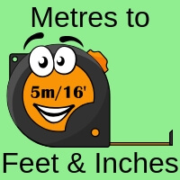Metres To Feet And Inches Converter Plus Yds Ft In To M Or Mm