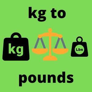 kg to Pounds calculator
