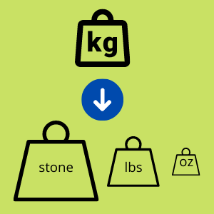 kg to stone, pounds and ounces