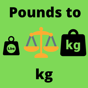 Pounds to kg calculator