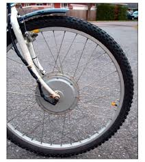Electric bicycle powered front wheel