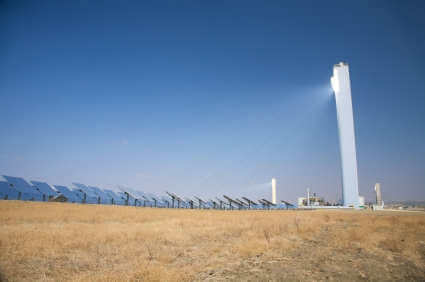 Solar Thermal Tower Power Station