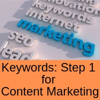 Keywords and 4 steps to content marketing success