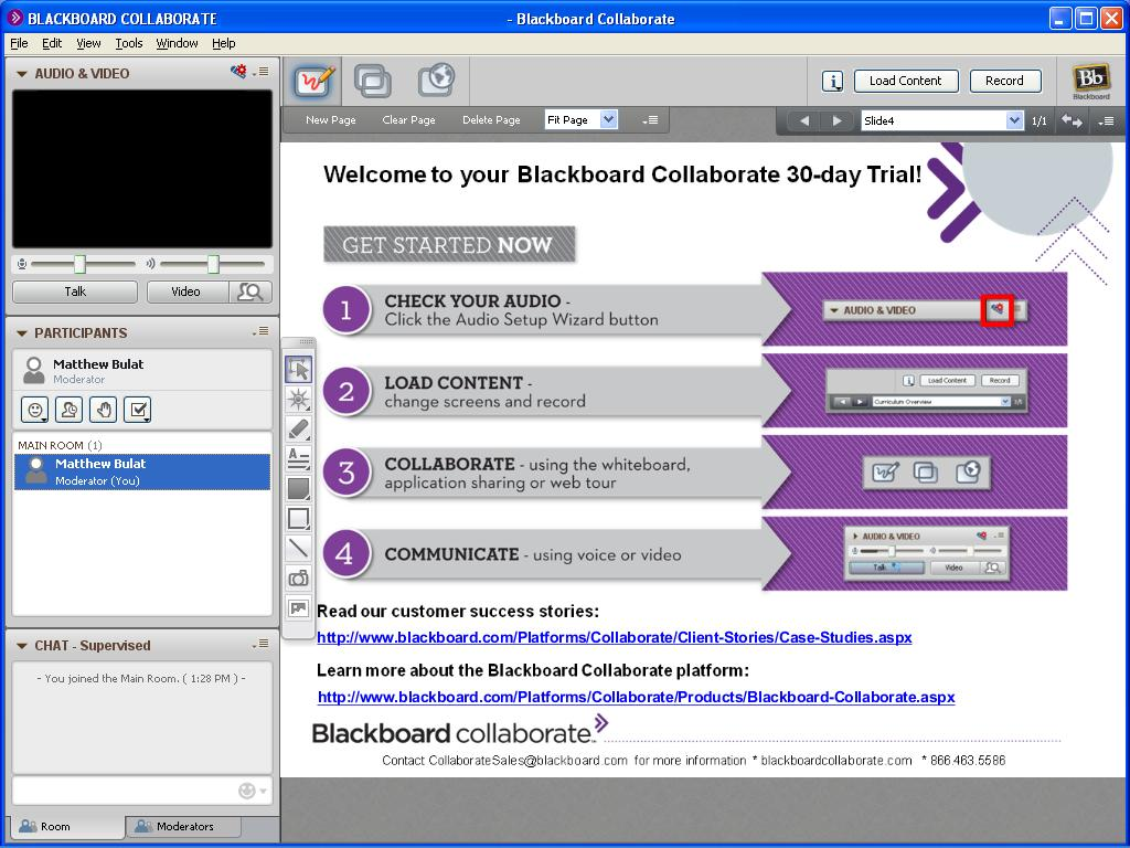 How To Video Conference With Blackboard Collaborate