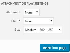 WordPress image size and alignment